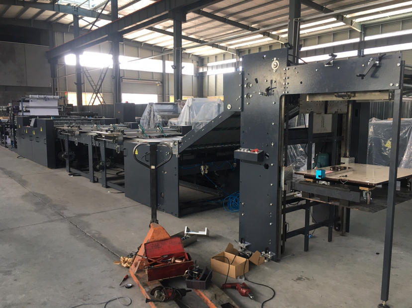 Flexo Ruling Machine With Rotary Sheeting And Stacker